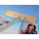 Baguettes en bois pour journal hauteur maxi 53cm, la paire
