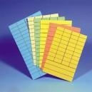 Fiches de prêt 65x100mm  en papier épais, le pack de 100