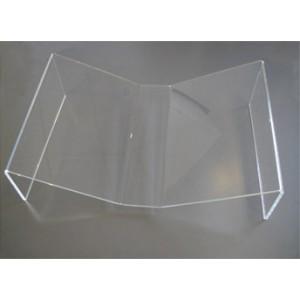 pupitre de table plexi pour livre ouvert en v. Black Bedroom Furniture Sets. Home Design Ideas