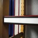 Paquet de 12 porte-étiquettes magnétiques 1.27x15cm.