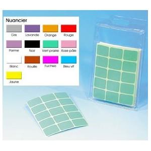 Etiquette plastifiée couleur 19x25mm JUSQU'A EPUISEMENT STOCK