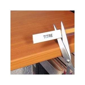 porte tiquette adh sif finition mate x l17cm avec bristol blanc les 10. Black Bedroom Furniture Sets. Home Design Ideas