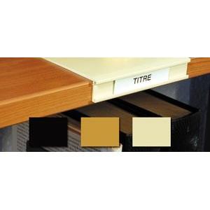 SOLDE Porte-étiquette amovible en plastique couleur L12.5 x P13 H2.2cm.