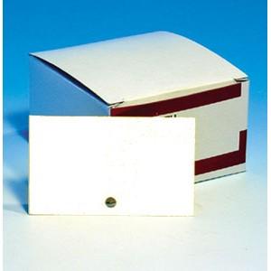 SOLDEES Fiches perforées blanches 210g, 7.5 x 12.5cm. Les 500