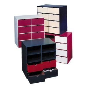 etag re 8 casiers hauts en carton avec 8 tiroirs hauts. Black Bedroom Furniture Sets. Home Design Ideas