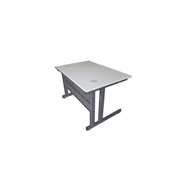 Bureau eco 80x 120cm montants fa ade m tal anthracite for Eco bureau