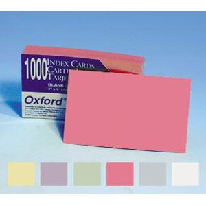 SOLDEES Fiches cartonnées OXFORD 10.2 x 15.3cm, 160g, vierges COULEUR, le pack de 1000