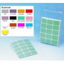 Etiquettes adhésives 19x25mm couleur et PLASTIFIEES