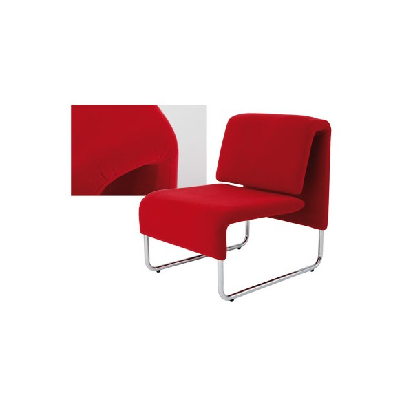 chauffeuse design eco 1 place m tal tissu anis. Black Bedroom Furniture Sets. Home Design Ideas