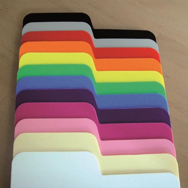 Choix de couleurs pour intercalaires extra-fins